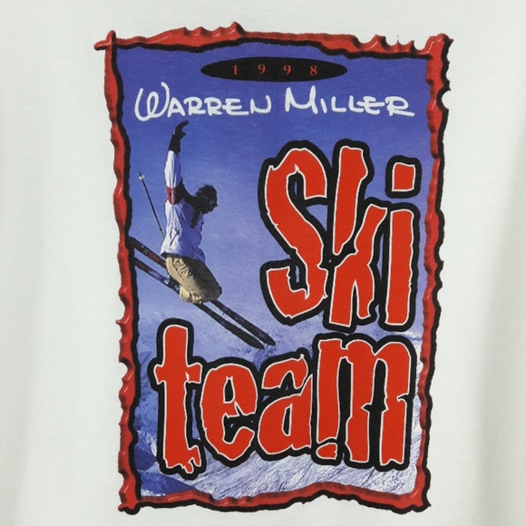 Vintage Other - Vtg 90s Warren Miller Ski Team T Shirt Size XL